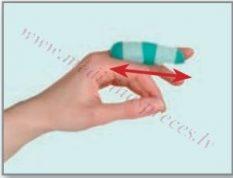 Pirkstu ortoze īslaicīgai terapijai, L izmērs. Chrisofix.