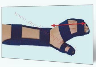 Plaukstas-apakšdelma ortoze, kreisā roka, XS izmērs.
