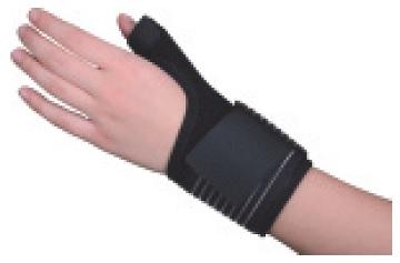 Universālā īkšķa atbalsta ortoze, melna.