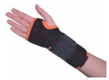 Plaukstas locītavas ortoze, kreisā roka, M izmērs, melna.