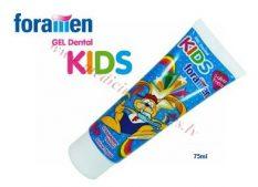 Foramen Kid zobu gels, 75 ml .