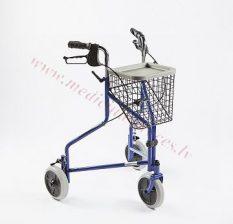 Rollators ar 3 riteņiem, max lietotāja svars 120 kg.