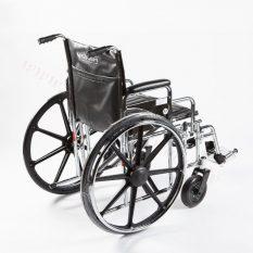 Riteņkrēsls hromēta metāla ar dubultu rāmi.