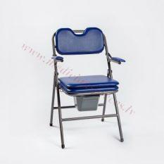 Krēsls WC, salokāms, neregulējams augstums.