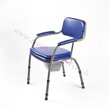 Krēsls WC ar regulējamu augstumu.