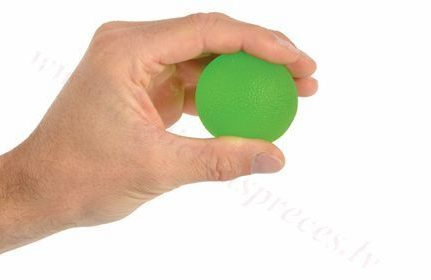 Masāžas gēla bumbiņa, zaļa-vidējas pretestības.