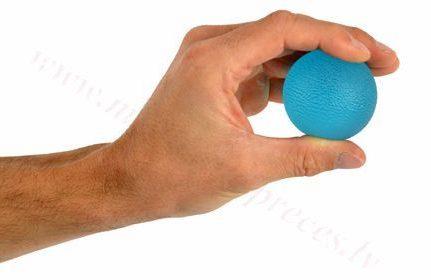 Masāžas gēla bumbiņa, zila-stipras pretestības.