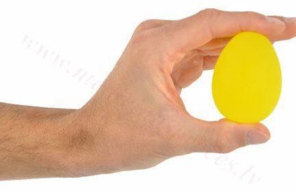 Masāžas gēla ola, dzeltena-īpaši vieglas pretestības.