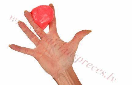 Terapeitiskais plastilīns, sarkans-vidēji stipras pretestības, 85 gr.