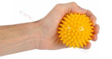 Bumbiņa masāžas 8 cm, dzeltena, MSD.