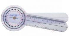 Goniometrs plastmasas 15 cm, 360 pa 1 grādam.