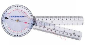 Goniometrs plastmasas 20cm, 360 pa 1 grādam.