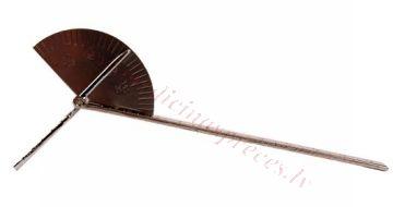 Goniometrs metāla, pirkstiem, 15 cm 180° pa 5 grādi.