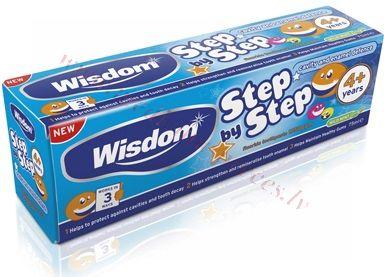 Zobu pasta Wisdom Step by Step bērnu, 4+ gadi 75 ml.