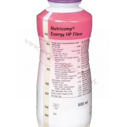 NUTRICOMP Energy HP Fibre, PE pudele 500 ml.