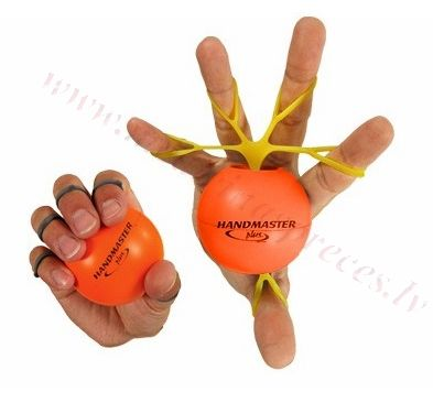 Handmaster plus bumbiņa rokas treniņam, oranža.