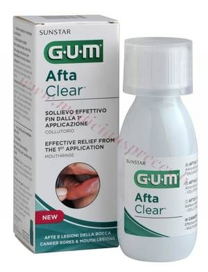 GUM Afta Clear mutes skalojamais, 120ml.