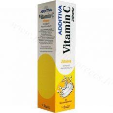 Additiva C vitamīns Zitrone. Iepakojumā 20 putojošās tabletes.