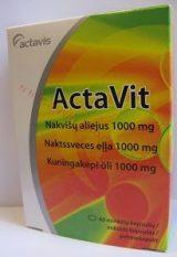 ActaVit Naktssveces eļļa 1000 mg, 60 kapsulas.
