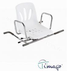 Vannas sēdeklis ar atzveltni (rotējošs).