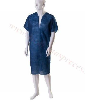 Pacienta krekls, tumši zils. Universāls izmērs, nesterils.