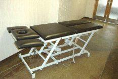 Elektriski reg. fizioterapijas kušete.